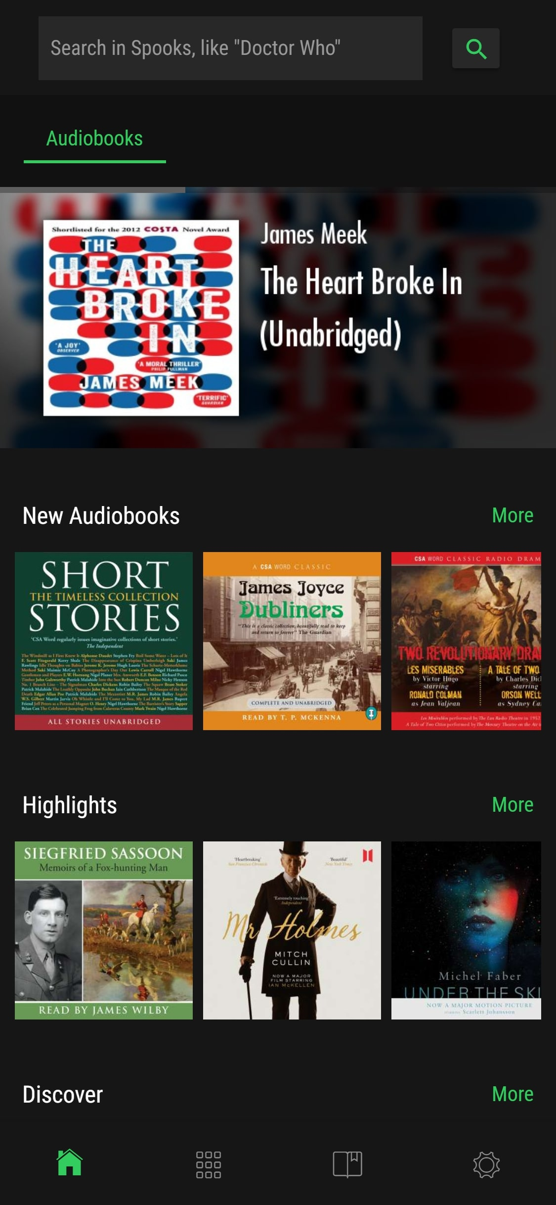 Spooks - Discover Audiobooks on Spotify